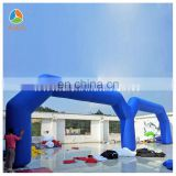 Advertising twins inflatable arch,double entrance doors