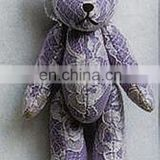 customized lace Teddy Bear movable mini animal plush stuff toys key bean chain