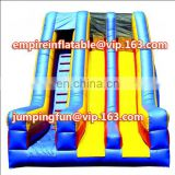 Medium-sized dual lane cheap inflatable dry slide ID-SLM023