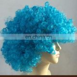 2017 new factory blue and orange clown wig afro wig