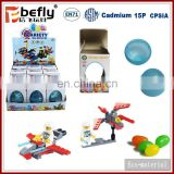 Shantou factory plastic variety blocks candy toys in egg