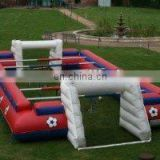 Exciting inflatable foosball field/human foosball field/human table football field