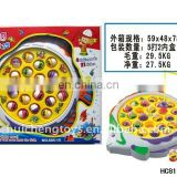 Saleable musical B/O magnetic kid fishing toy HC81297