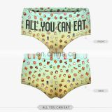 zohra 3d digital print new fashion coffee donuts design wholesale sexy women underwear pictures