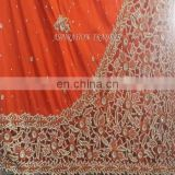 Indian African heavy beaded George wrapper with Blouse for Wedding Dresses