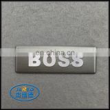 Chinese Suppliers Self Adhesive Custom Name Design Car Metal Brushed and Embossed Aluminum Label