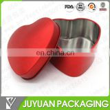 Cute heart shaped metal wedding favor box candy tin box wholesale