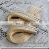 Alibaba express golden supplier best quality double drawn wholesale tape hair extensions