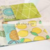 FDA Certified Zero Waste Food Wrap Beeswax bags Eco Friendly Reusable natural Cotton Beeswax Food Storage bags
