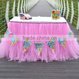 Beautiful Tutu Tableware Tulle Table Skirt Party Wedding Decorations Best Price Gift SD103