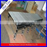 Gravity roller conveyor and flexible conveyor roller for warehouse system