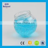 New design empty glass storage jar ice cracked clear glass bottle                                                                                                         Supplier's Choice