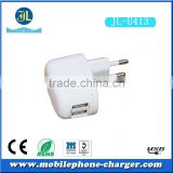 Dual port USB 220v wall usb charger adapter EU socket mobile phone travel charger usb travel charger