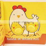 FDT customized eco-friendly and colorful animal soft touch and feel board book with hard cover