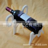Wooden animal shape wine rack for 1 bottle wholesale, Exclusive design tailored crane wood wine rack