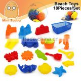 Summer Toy Kids Plastic Sand Shovels Mini Sand Beach Toys Play Set 18 PCS/Set