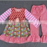 baby and kids clothing fou sping and summer flowers printing sleeveless clothes ruffle icing pants girls outfits