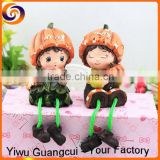 2016 merry happy Halloween pumpkin couple resin crafts doll                                                                         Quality Choice