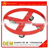 iso 9001 standard steel drum dolly,4 rubber caster wheels drum dolly