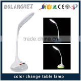indoor modern battery operated funky table lamps rainbow color cordless USB rechargeable hotel led desk lamp