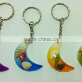 Moon Keychain & keyring,moon shape promotion gift,lovly colorfully moon charm jewery