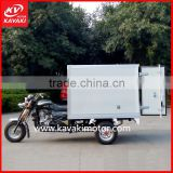 Army Green Color Durable Model KV150ZH-B 3 Wheel Electric Tricycle With Closed Food Warmer Cargo Box
