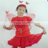 fairy costume for kids,popular gils wing fairy sets with tutus,girls cosplay elsa capes and mask