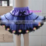 2016 violet purple kids/adults performce wear,bulk fluffy led pettiskirt for girls, led costume,light up shiny toddler led tutus