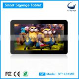 "14"" hd 1080p indoor lcd led touch screen smart wifi android digital signage tablet media player BT1401MR"