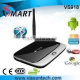 Vissontech RK3188 quad core tv box CS918 android 4.2 2G/8G watch live tv channels for free