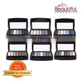 Wholesale make up small quanitty cosmetic matte Eye Use and Mineral Ingredient romantic color eye shadow
