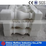 Pure white marble polished pillar