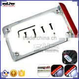 BJ-LPL294-002 Highly Recommended Chrome Motorcycle 4'' X 7'' Tail Light LED License Plate Frame For Harley