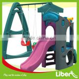children plastic toy slide sets with swing,small children water slide toys for sale,garden slide for kids LE.HT.022