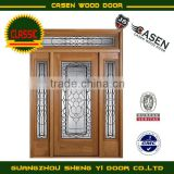 exterior fiberglass wooden door with side lites                                                                         Quality Choice