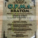 OPMS Kratom gold 1ct/3ct/5ct powder packaging bag with zipper for synthetic cannabinoids kratom capsules/cannabidiol herbal bags