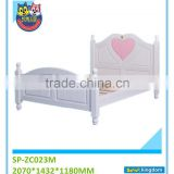 2016 Guangzhou furniture all iron beds designs with wood slats camping cot for adult#SP-ZC023M