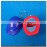 Hot selling top quality Novelty mini hat shape plastic bottle opener keychain for promotion