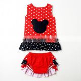 Wholesale Cotton Swing Top and Bloomers kids clothes outfit For Ruffle Bloomers For Baby Girls