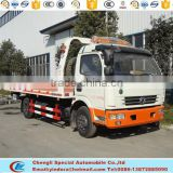 DFAC 4*2 china pickup automatic flatbed road wrecker flated truck dongfeng