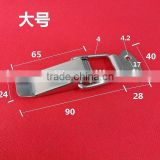 Stainless steel big box spring clasp, stainless steel fastener, toolbox lock, the duck mouth buckle