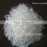 Chrome paint polyester resin for electrostatic spraying