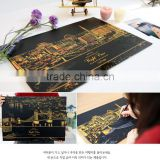 The World Best Golden Scratch Night View Series 3 Contents One Paper Free Drawing With Pen Tool Treasure Hunt Coloring Paper