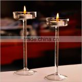 2016 simple design pillar crystal candle holder