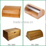 Bamboo bread bin /bamboo bread box with lid                                                                         Quality Choice