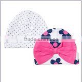 Full print fashion new born 2 pack knitted caps