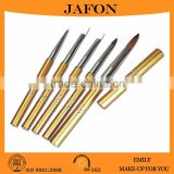 5 Pieces Golden Kolinsky Sable Nail Scrub Brush Beauty Tools                                                                         Quality Choice
