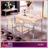 A1231 Good quality low white lacquer dining table
