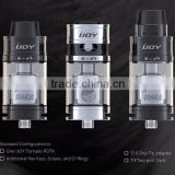 Hot selling 2016 Top filling Two Post Build Deck RDAT Tornado tank ceramic coil vaporizer