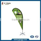 China factory advertising outdoor cross base tear drop flag for sale